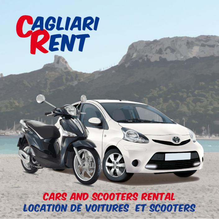 Rent car or scooter Cagliari & hinterland | Pick-up at airport, hotels, center of Cagliari | Best offer for June