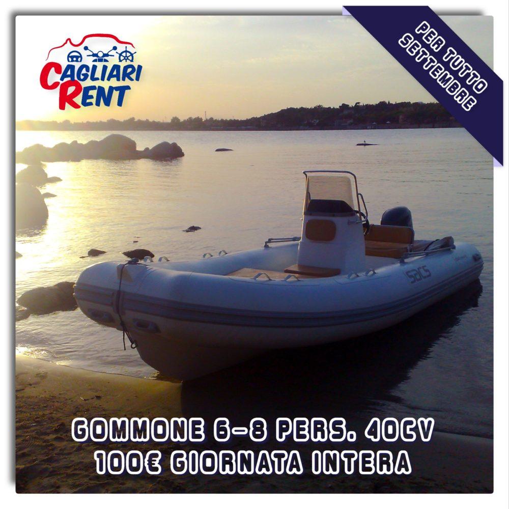 Fino al 30/09 OFFERTA NOLEGGIO Gommoni 40cv a 100€ al giorno | Cagliari Rent - Marina di Capitana